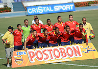 BARRANQUIILLA -COLOMBIA-9-JULIO-2014. Formacion de La Universidad Autonoma  contra el Union Magdalena por la Copa Postobon II en el estadio Metropolitano. Team of Universidad Autonoma against Union Magdalena  by Postobon  Cup II in Metropolitan Stadium Photo:VizzoImage / Alfonso Cervantes / Stringer