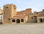 Torre de Bujaco tower in Plaza Mayor, Caceres, Extremadura, Spain