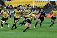 Beauden Barrett in action during the Super Rugby match between the Hurricanes and Highlanders at Westpac Stadium in Wellington, New Zealand on Saturday, 24 March 2018. Photo: Mike Moran / lintottphoto.co.nz