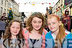 Catherine Brennan, Allanah Dixon and Sarah Brennan Killarney having fun the street entertainment at the Killarney Summerfest on Monday evening
