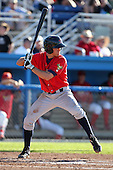State College Spikes shortstop Drew Maggi (5) during a game vs. the Batavia Muckdogs at Dwyer Stadium in Batavia, New York August 29, 2010.   Batavia defeated State College 6-4.  Photo By Mike Janes/Four Seam Images