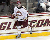 Teddy Doherty (BC - 4) - The Boston College Eagles defeated the University of Vermont Catamounts 4-1 on Friday, February 1, 2013, at Kelley Rink in Conte Forum in Chestnut Hill, Massachusetts.