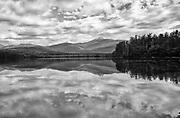 Mount Chocorua from Chocorua Lake in Tamworth, New Hampshire USA during the summer months