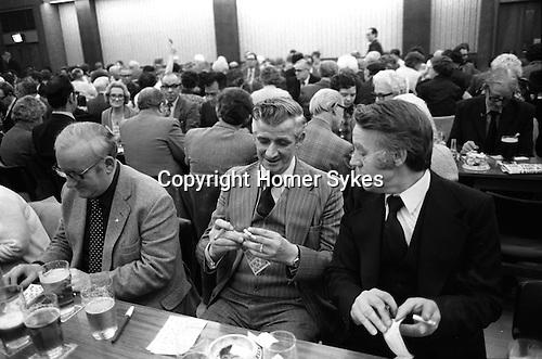 Coventry Working Mens Club. Saturday night Bingo. 1981 UK