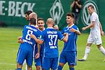 13.07.2019, Parkstadion, Zell am Ziller, AUT, FSP, Werder Bremen vs. Darmstadt 98<br /> <br /> im Bild / picture shows <br /> 0 :1 Patrick Herrmann (Darmstadt 98 #37)  <br /> <br /> <br /> jubel mit Fabian Schnellhardt (Darmstadt 98 #08)<br /> <br /> Foto © nordphoto / Kokenge