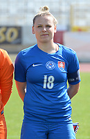 20180307 - LARNACA , CYPRUS :  Slovakian Dominika Skorvankova pictured during a women's soccer game between  Slovakia and the Czech Republic , on Wednesday 7 March 2018 at the GSZ Stadium in Larnaca , Cyprus . This is the final game in a decision for 9 th or 10 th place of the Cyprus Womens Cup , a prestigious women soccer tournament as a preparation on the World Cup 2019 qualification duels. PHOTO SPORTPIX.BE | DAVID CATRY