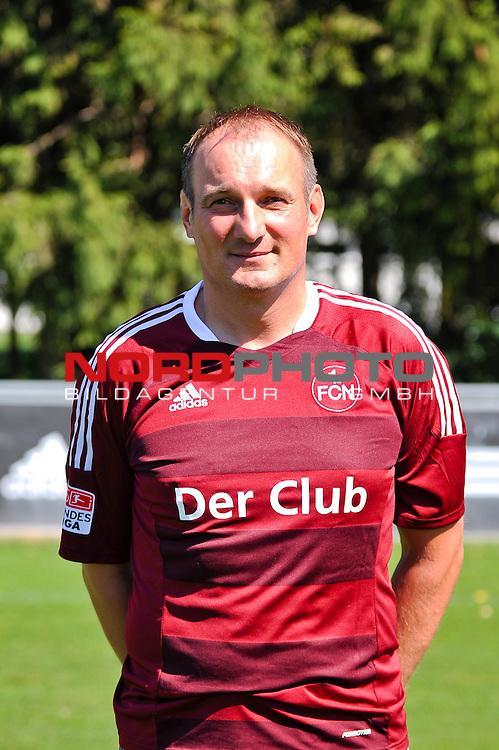 23.07.2012, Sportpark Valznerweiher, Nuernberg, GER, 1.FBL, Mannschaftsfoto, 1. FC Nuernberg, im Bild<br /> Torwart-Trainer Adam Matysek (1. FC Nuernberg)<br /> <br /> Foto &copy; nph / Merz *** Local Caption ***