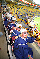 Fans on day two of the 2016 HSBC Wellington Sevens at Westpac Stadium, Wellington, New Zealand on Sunday, 31 January 2016. Photo: Dave Lintott / lintottphoto.co.nz