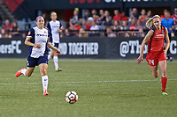 Portland, OR - Saturday July 22, 2017: Whitney Church, Tyler Lussi during a regular season National Women's Soccer League (NWSL) match between the Portland Thorns FC and the Washington Spirit at Providence Park.
