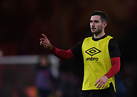 27th January 2020; Vitality Stadium, Bournemouth, Dorset, England; English FA Cup Football, Bournemouth Athletic versus Arsenal; Lewis Cook of Bournemouth warms up