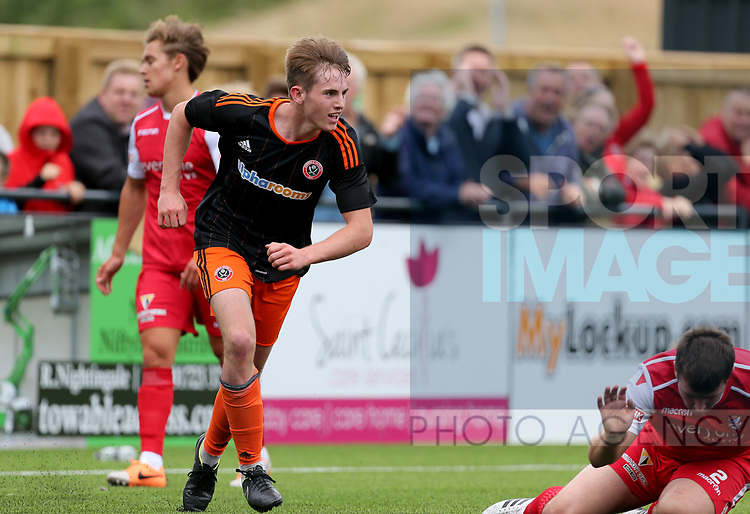 Rhys Norrington Davis of Sheffield Utd during the pre season match at the Flamingo Land Stadium, Scarborough. Picture date 15th July 2017. Picture credit should read: Richard Sellers/Sportimage