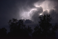 Thunder storm - Cumulonimbus clouds with lightning
