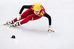 Yang Zhou of China during the Short Track Speed Skating as part of the 2014 Sochi Olympic Winter Games at Iceberg Skating Palace on February 10, 2014 in Sochi, Russia. Photo by Victor Fraile / Power Sport Images