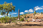 Rusting ruins of old Chillagoe smelter.  Chillago, Queensland, Australia