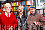 L-R John Minogue, Veronica Corkery and Mike O' Callaghan at the book launch in Dingle last Saturday night.