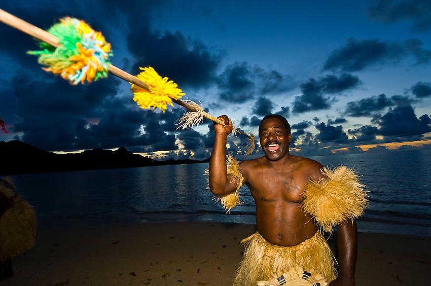 Fijian warrior, Nukubati Island Resort, Fiji Islands