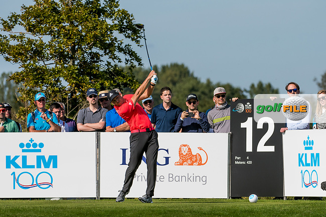 Sergio Garcia (ESP) in action on the 12th hole during the 3rd round at the KLM Open, The International, Amsterdam, Badhoevedorp, Netherlands. 14/09/19.<br /> Picture Stefano Di Maria / Golffile.ie<br /> <br /> All photo usage must carry mandatory copyright credit (© Golffile | Stefano Di Maria)