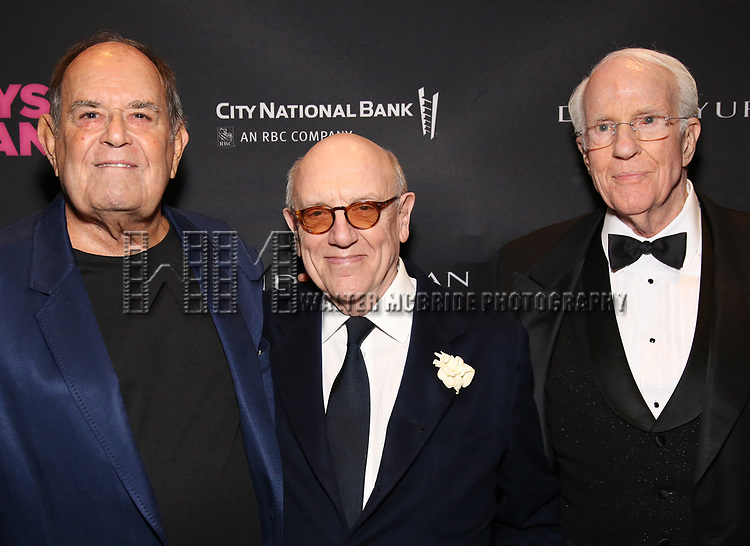 Laurence Luckinbill, Mart Crowley and Peter White attends the 'The Boys In The Band' 50th Anniversary Celebration at The Second Floor NYC on May 30, 2018 in New York City.