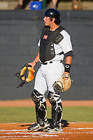 Catcher Chase Blackwood #26 of the Bristol White Sox on defense against the Greeneville Astros at Boyce Cox Field July 2, 2010, in Bristol, Tennessee.  Photo by Brian Westerholt / Four Seam Images