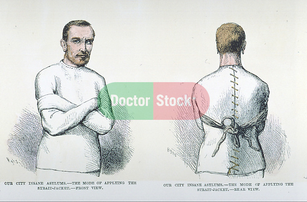 man wearing straitjacket