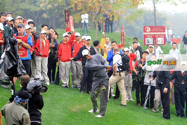 Tiger at the Duel at Jinsha Lake, Golf Challenge between Rory McIlroy (NIR) and Tiger Woods (USA) at Jinsha Lake Golf Club, Zhengzhou, China, 29/10/12...(Photo www.golffile.ie)