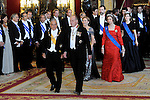 070311.Mc.POOL.07-03-2011 Gala Princess Letizia and Prince Felipe and King Juan Carlos and Queen Sofia with the President of Chili, Sebastian Pinera and his wife Cecilia Morel at the gala dinner at palacio real in Madrid. ..Photo: Pool Miguel Cordoba / ALFAQUI