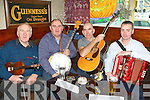 Local musicians Paddy Jones, Tom Connell, PJ Teahan and Niall O'Connor who played a session in Tom McCarthy's bar Castleisland on Saturday as part of the Padraig O'Keeffe traditional music festival ..