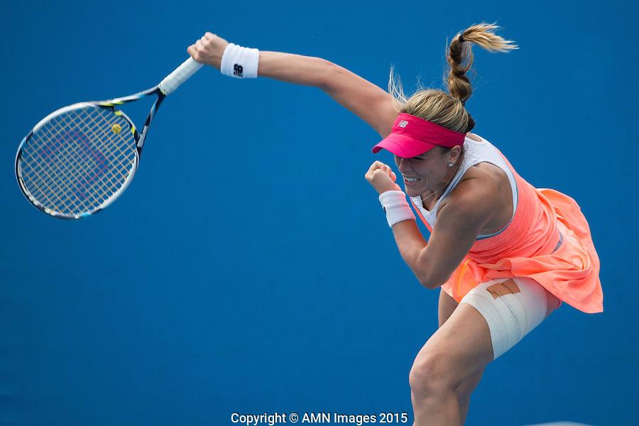 Denisa Allertova (CZE)<br /> <br /> Tennis - Australian Open 2015 - Grand Slam -  Melbourne Park - Melbourne - Victoria - Australia  - 22 January 2015. <br /> &copy; AMN IMAGES
