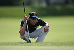 6 September 2008:    Camilo Villegas lines up a putt on the second hole in the second round of play at the BMW Golf Championship at Bellerive Country Club in Town & Country, Missouri, a suburb of St. Louis, Missouri.  The BMW Championship is the third event on the PGA's Fed Ex Tour. Villegas, of Medellin Colombia (South America) was the leader after the conclusion of round one with a five-under par score.