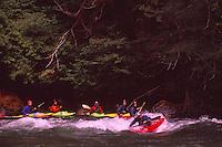 Whitewater Rafting on Mamquam River near Squamish, BC, British Columbia, Canada