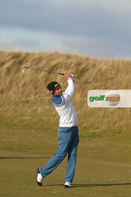 Lee Slattery (ENG) on the 18th in Kingsbarns on the 3rd Day at the Alfred Dunhill Links Championship, Old Course St. Andrews, Carnoustie and Kingsbarns, Scotland...(Photo Jenny Matthews/www.golffile.ie)