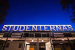 Uppsala 2015-10-23 Bandy Elitserien IK Sirius - Villa Lidk&ouml;ping BK :  <br /> Skylt ovanf&ouml;r entr&eacute;n till Studenternas IP inf&ouml;r matchen mellan IK Sirius och Villa Lidk&ouml;ping BK <br /> (Foto: Kenta J&ouml;nsson) Nyckelord:  Bandy Elitserien Uppsala Studenternas IP IK Sirius IKS Villa Lidk&ouml;ping utomhus exteri&ouml;r exterior fasad entr&eacute; skylt