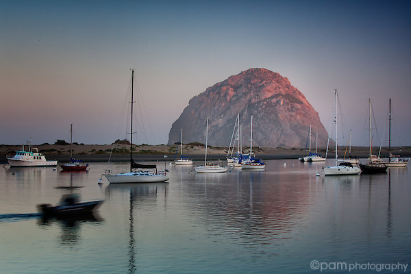 Quiet morning with boats on Morro Bay