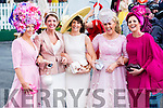 Elaine Kelleher, Kilgarvan, Carol Kennelly, Tralee, Tina Griffin, Killorglin, Mary Stapleton Foley, Firies and Joann Murphy, Kilgarvan pictured at Ladies day at Galway Races on Thursday.