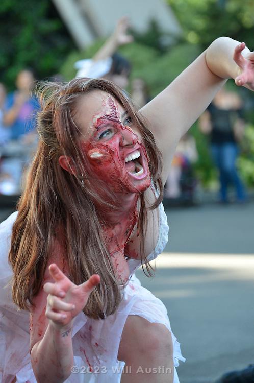 Zombie Walk at Bumbershoot 2013 in Seattle, WA USA