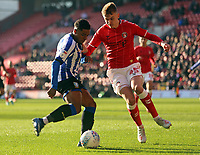 Moses Odubajo of Sheffield Wednesday and Alfie Doughty of Charlton Athletic during Charlton Athletic vs Sheffield Wednesday, Sky Bet EFL Championship Football at The Valley on 30th November 2019