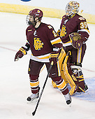 Brady Lamb (Duluth - 2), Kenny Reiter (Duluth - 35) - The University of Minnesota-Duluth Bulldogs defeated the Union College Dutchmen 2-0 in their NCAA East Regional Semi-Final on Friday, March 25, 2011, at Webster Bank Arena at Harbor Yard in Bridgeport, Connecticut.