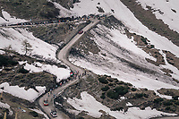 grupetto up the gravel roads of the Colle delle Finestre <br /> <br /> stage 19: Venaria Reale - Bardonecchia (184km)<br /> 101th Giro d'Italia 2018