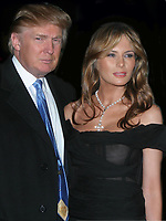 DONALD TRUMP and Melania Trump 2005<br /> Photo By John Barrett/PHOTOlink