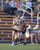 Sam Taylor (BC 14) controls ball in midfield. Boston College defeated Iona College, 19-5.