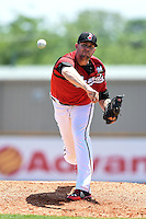 Nashville Sounds pitcher Kyle Heckathorn (41) delivers a pitch during a game against the Omaha Storm Chasers on May 20, 2014 at Herschel Greer Stadium in Nashville, Tennessee.  Omaha defeated Nashville 4-1.  (Mike Janes/Four Seam Images)