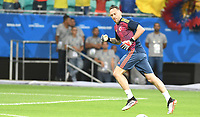 SALVADOR – BRASIL, 15-06-2019: David Ospina arquero de Colombia calienta previo al partido de la Copa América Brasil 2019, grupo B, entre Argentina y Colombia jugado en el Itaipava Fonte Nova Arena de la ciudad de Salvador, Brasil. / David Ospina goalkeeper of Colombia warms up prior the Copa America Brazil 2019 group B match between Argentina and Colombia played at Itaipava Fonte Nova Arena in Salvador, Brazil. Photos: VizzorImage / Julian Medina / Cont / FCF