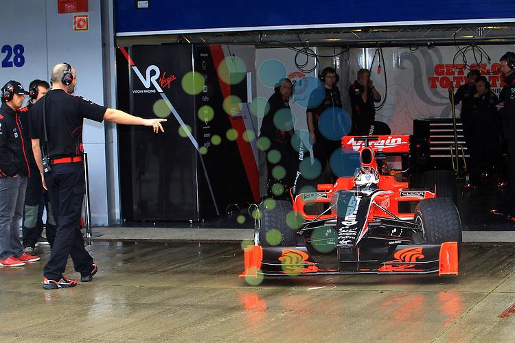 F1 Tests, Jerez Spain  10. - 14. February 2010.Timo Glock (GER), Virgin Racing ..Hasan Bratic;Koblenzerstr.3;56412 Nentershausen;Tel.:0172-2733357;.hb-press-agency@t-online.de;http://www.uptodate-bildagentur.de;.Veroeffentlichung gem. AGB - Stand 09.2006; Foto ist Honorarpflichtig zzgl. 7% Ust.;Hasan Bratic,Koblenzerstr.3,Postfach 1117,56412 Nentershausen; Steuer-Nr.: 30 807 6032 6;Finanzamt Montabaur;  Nassauische Sparkasse Nentershausen; Konto 828017896, BLZ 510 500 15;SWIFT-BIC: NASS DE 55;IBAN: DE69 5105 0015 0828 0178 96; Belegexemplar erforderlich!..