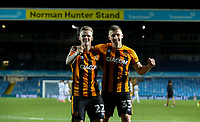 Hull City's Thomas Mayer and Greg Docherty celebrate after the match<br /> <br /> Photographer Alex Dodd/CameraSport<br /> <br /> Carabao Cup Second Round Northern Section - Leeds United v Hull City -  Wednesday 16th September 2020 - Elland Road - Leeds<br />  <br /> World Copyright © 2020 CameraSport. All rights reserved. 43 Linden Ave. Countesthorpe. Leicester. England. LE8 5PG - Tel: +44 (0) 116 277 4147 - admin@camerasport.com - www.camerasport.com