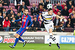 FC Barcelona's Aleix Vidal, VfL Borussia Monchengladbach's Nico Shulz  during Champions League match between Futbol Club Barcelona and VfL Borussia Mönchengladbach  at Camp Nou Stadium in Barcelona , Spain. December 06, 2016. (ALTERPHOTOS/Rodrigo Jimenez)