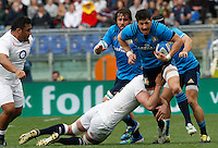 Rugby, Torneo delle Sei Nazioni: Italia vs Inghilterra. Roma, 14 febbraio 2016.<br /> Italy&rsquo;s Alessandro Zanni in action during the Six Nations rugby union international match between Italy and England at Rome's Olympic stadium, 14 February 2016.<br /> UPDATE IMAGES PRESS/Riccardo De Luca