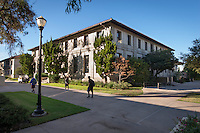The old wing of the Mary Norton Clapp Library, part of the Academic Commons, Sept. 20, 2012. (Photo by Marc Campos, Occidental College Photographer)