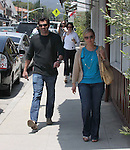 5-26-09.Patrick Dempsey walking in Brentwood California after having a Business meeting smiling laughting...AbilityFilms@yahoo.com.805-427-3519.www.AbilityFilms.com