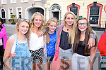 Pictured queuing for the Union J concert at Denny Street on Friday were, from left: Erin O'Shea (Waterville), Georgia O'Dwyer, Brianna O'Sullivan, Eimear Curran, Katelyn O'Donoghue (all Waterville).