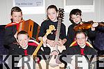 Crotta O'Neills talented musicians at the County Scor na bPaistí finals in the INEC on Sunday l-r: Conor O'Braoin, Darragh O'Braoin, Amy O'Sullivan, Rory Mahony and Michael Shanahan